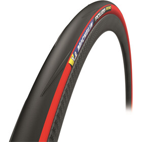 "Michelin Power Road Copertone Pieghevole 28x1"" TS, red"